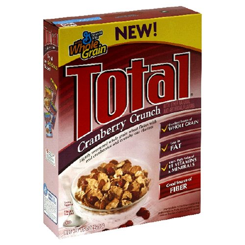 Buy Total Cranberry Crunch Cereal, 15-Ounce Box (Pack of 6) (General Mills, Health & Personal Care, Products, Food & Snacks, Breakfast Foods, Cereals)