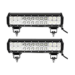See Partsam 2pcs 12inch 72W CREE Spot Flood Combo Beam Lamp Work Light Offroad Truck 4WD ATV UTE SUV Boat for Ford Jeep Wrangler Honda Toyota Chevrolet Cruze Camry Volkswagen Nissan Hyundai Buick Pontiac Dodge Mitsubishi GMC Acura Hummer Land Rover Details