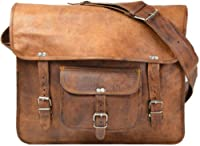Gusti Leder Unisex Messenger Bag Genuine Leather Case Brown U23