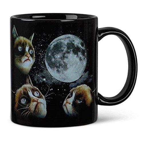 Grumpy Cat Moon che cambia colore, sensibile al calore Tazza da caffè