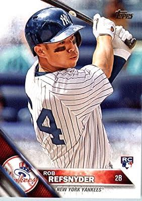 2016 Topps #178 Rob Refsnyder New York Yankees Baseball Rookie Card