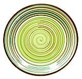muymucho カラフル ディナープレート 大皿 (グリーン) 直径 26cm