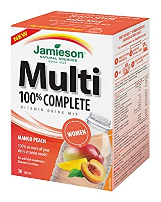 Jamieson Laboratories Multivitamin 100 Percent Complete Women Drink Mix,30 Count