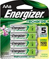 Energizer Universal NiMH AA Rechargeable Batteries, 8-count (1400 mAh, 1500 Cycles, Pre-Charged)