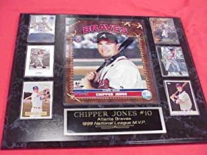 Chipper Jones Atlanta Braves 6 Card Collector Plaque w 8x10 Photo by J & C Baseball Clubhouse
