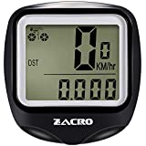 Zacro Bike Computer,Original Wireless Bicycle Speedometer with Compass Key Ring,Multi FunctionBike Odometer Cycling Zacro