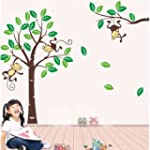 Monkey On Tree Art Removable Vinyl Wa...