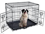 Transportkäfig Drahtkäfig Hundebox Hundekäfig Transportbox Gitterbox Reisebox (S/61 x 43 x 51cm)