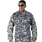 Subdued Urban Digital Camouflage Military BDU Fatigue Shirt
