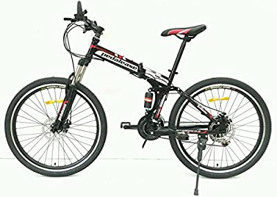 "Pedalease Black Fusion 26""wheel Folding Mountain Bike 2016 mod"
