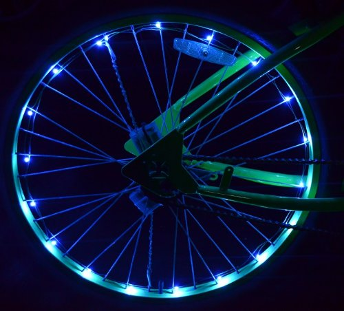 Led Bicycle Wheel Lights - Blue *Kit Both Wheels* - Safety Spoke Wheel Lights
