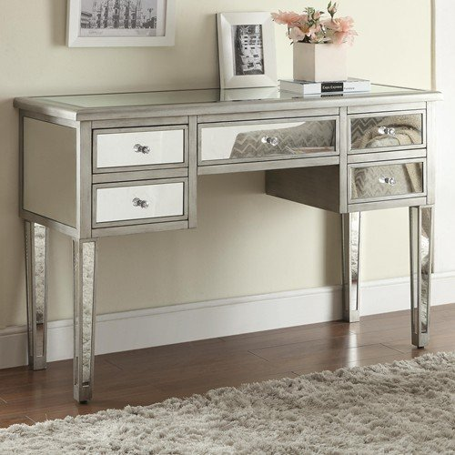 Coaster Home Furnishings Console Table, Silver front-347337