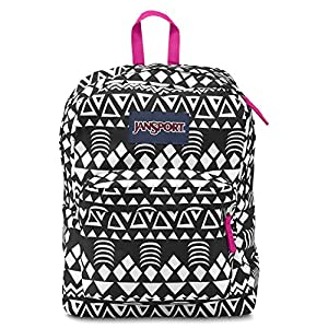 JANSPORT SUPERBREAK BLACK GEO GRAPHIC BACKPACK