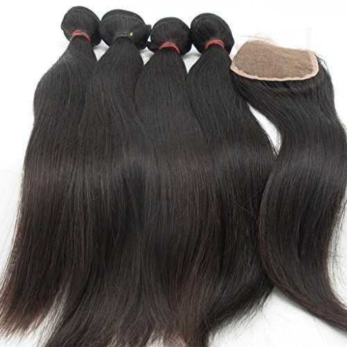 Vedar-Beauty-4-Bundle-Hair-Extension-1-Closure-6A-100-Malaysian-Straight-Raw-Virgin-Natural-Color-Hair