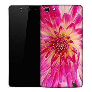 Snoogg Dahlia Flower Designer Protective Phone Back Case Cover For Micromax Canvas Selfie Q348