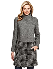 M&S Collection Textured Coat with Wool