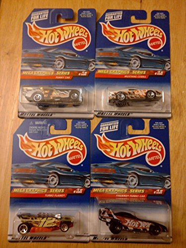 Hot Wheels 1999 Mega Graphics Series Complete Set of 4 - 1