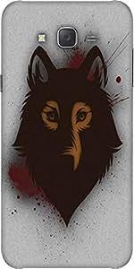 Snoogg Bold Wolf Designer Protective Back Case Cover For Samsung J7