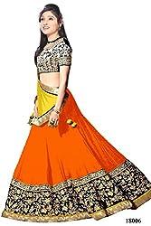 Rajnandini Faux Georgette Lehenga Saree(JOPLMKALI18006_orange)