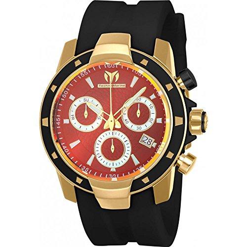 technomarine-uf6-homme-45mm-bracelet-silicone-noir-boitier-plastique-quartz-cadran-rouge-montre-tm-6