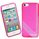 BRAND NEW STYLISH V-LINE SKIN SLIM FIT TPU SILICON GEL RUBBER JELLY CASE BACK COVER FOR APPLE IPHONE 5S 5 - PINK