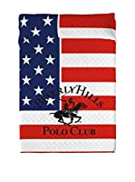 BEVERLY HILLS POLO CLUB Colcha Pacific (Rojo/Azul)
