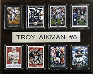 C&I Collectables NFL Dallas Cowboys Troy Aikman 8 Card Plaque by C&I Collectables