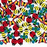 Fun Express - 144 Mini Insect Erasers