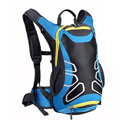 Ezyoutdoor Blue Rucksacks Backpack for Camping Hiking Trekking Luggage & Travel Bags Knapsack Students School Shoulder Backpacks with water bag