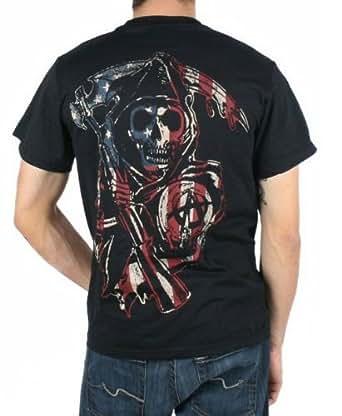 Sons of Anarchy Americana Samcro Homme Noir T-Shirt   XXL