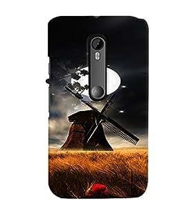 Fuson Premium Full Moon Printed Hard Plastic Back Case Cover for Motorola Moto G (3rd Gen)