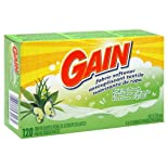 Gain Fabric Softener Dryer Sheets, Original Fresh, 120 ct.