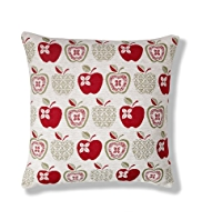 Chenille Apples Cushion