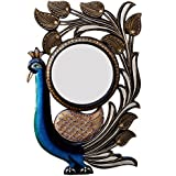 Ghanshyam Art Wood Peacock Wall Mirror (30.48 Cm X 4 Cm X 45.72 Cm, GAC071)