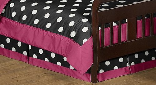 Hot Dot Modern Bed Skirt For Toddler Bedding Sets By Sweet Jojo Designs