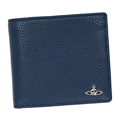 ヴィヴィアン ウエストウッド Vivienne Westwood 二つ折り財布 ウルトラマリンブルー LEATHER 33160 【並行輸入品】