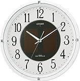 CITIZEN (シチズン) 掛け時計 エコライフM806 電波時計 ソーラー電源 4MY806-003