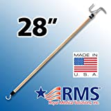 """RMS Deluxe 28"""" Extra Long Dressing Stick Made in the U.S.A. - Ideal Dressing Aid for Shoes, Socks, Shirts and Pants)"""