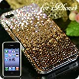 iPhone4用 豪華スワロフスキーiPhone4ケース(Cタイプ・グラデ・ブラウン)