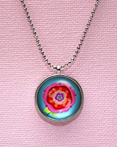 Hot Pink Bloom Oopsy Daisy Necklace from Oopsy Daisy