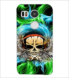 PrintDhaba Skull D-2942 Back Case Cover for LG NEXUS 5X (Multi-Coloured)