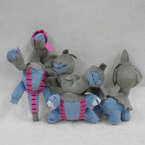 "New Doll plush animal Deino Zweilous Hydreigon 5 1/2"" doll SET OF 3 KEYCHAIN bbkub"