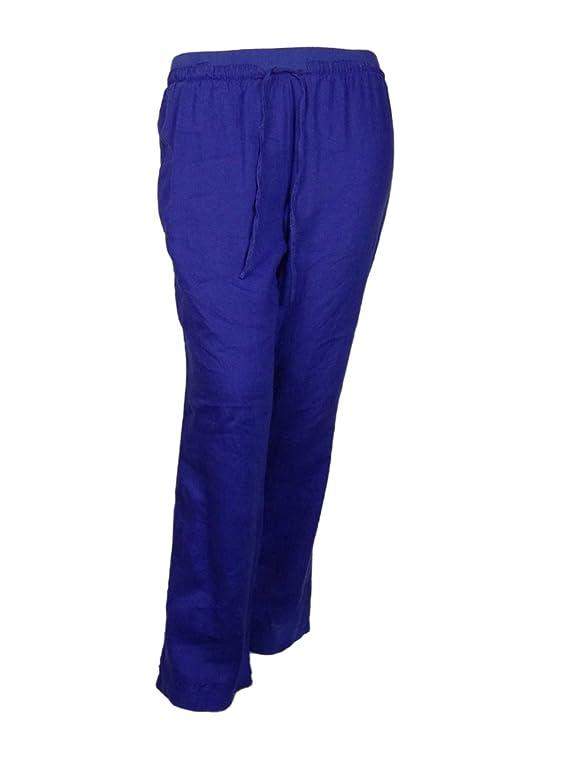 Ellen Tracy Women's Linen Essentials Pants
