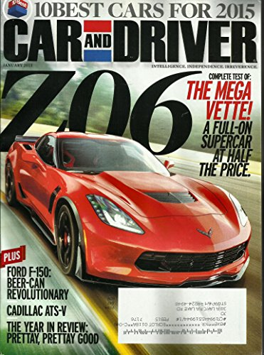Car and Driver Magazine January 2015