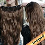TOOGOO(R) Gorgeous Long Curly Clip-on...