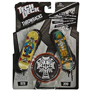 Dogtown: Tech Deck Throwbacks 2-Finger Skateboards Pack