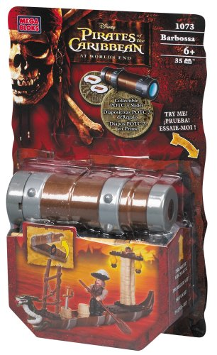 Mega Bloks Pirates of the Caribbean 3: Captain Barbossa Spyglass Pirates Gear (1073)