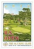 Signed 2012 U.S. Open Poster by Lee Wybranski