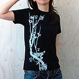 北斎プロジェクト 梅に鳥Tシャツ
