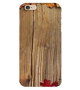 PrintVisa Wooden Design 3D Hard Polycarbonate Designer Back Case Cover for Apple iPhone 6S Plus